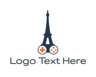 Eiffel - Eiffel Tower Gaming logo design