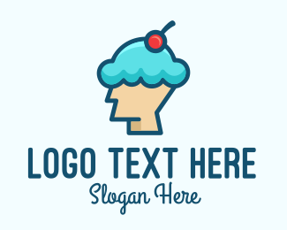 Ice Cream Shop - Ice Cream Dessert Head  logo design