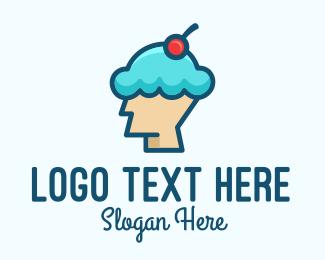 Ice - Ice Cream Dessert Head logo design