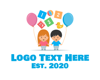 Children - Children's Party Celebration logo design