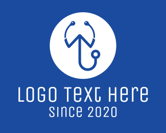 Medical Consultation - Medical Stethoscope Letter W logo design