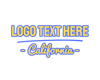Los Angeles - California Font logo design
