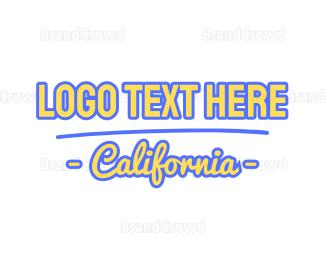 Beachwear - California Font logo design