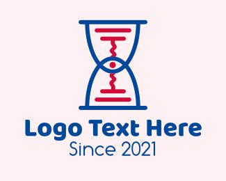 Hourglass - Hourglass Corkscrew logo design