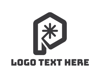 Metal Fabrication - Modern Hexagon P logo design