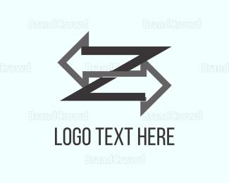 Right - Right & Left logo design