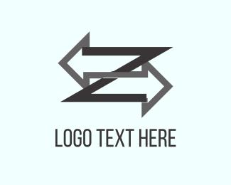 Letter Z - Right & Left logo design