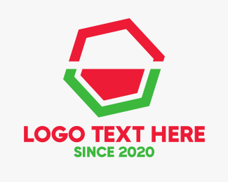 Fruity - Minimalist Watermelon Hexagon logo design
