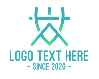 Architecture - Modern VA Monogram logo design