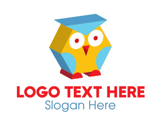 Review Center - 3D Kids Owl  logo design
