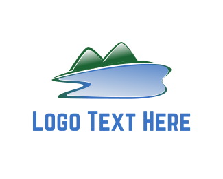 Dental Lake & Mountains logo design