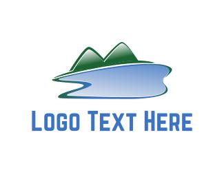 Lagoon - Lake & Mountains logo design