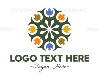 Cathedral - Floral Mosaic Emblem logo design