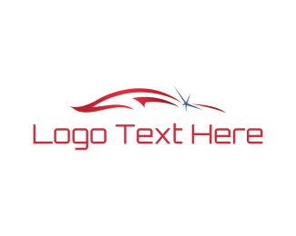 Sports Car - Red Car logo design