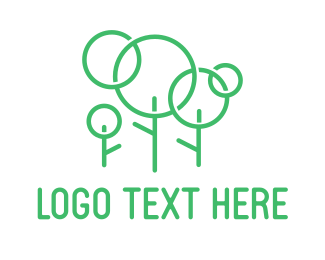 Pure - Green Stick Family Tree logo design