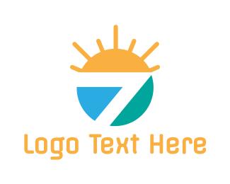 Television Channel - Seven Sun logo design