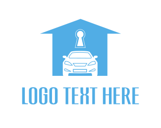 Car Insurance - Car & House logo design