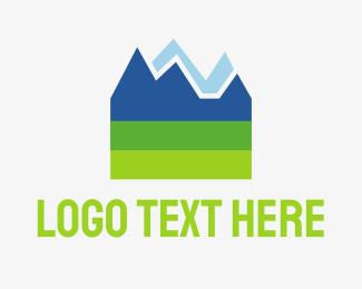 Ski - Mountain Rock logo design