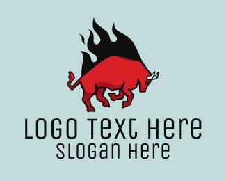 Beast - Red Bull Flame logo design