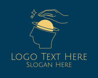 Fortune Teller - Saturn Mind Astrology logo design