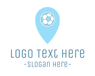 Soccer - Soccer Ball Pin logo design