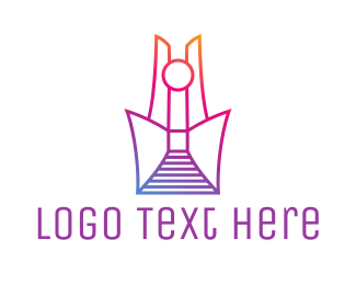 Structure - Abstract Tower Outline logo design