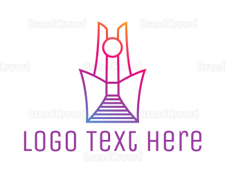 Abstract - Abstract Tower Outline logo design