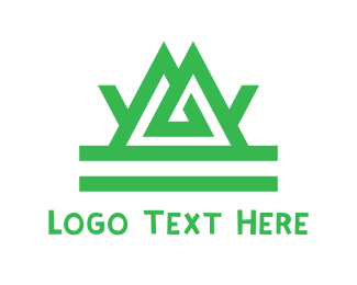 Green Mountain - Green Tribal Mountain logo design