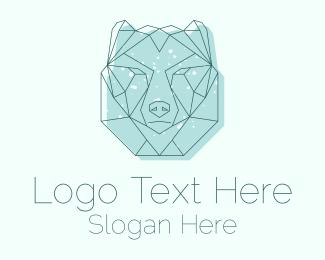Polar - Polar Bear Monoline logo design
