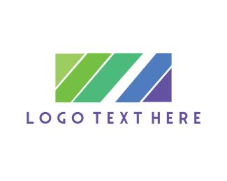 Rectangle - Diagonal Lines logo design