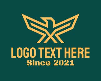 Military - Golden Military Eagle logo design