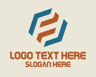Number 8 - Hexagonal Number 8 logo design