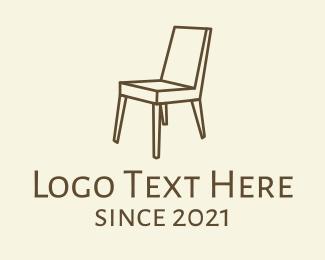 Wooden - Wooden Chair logo design