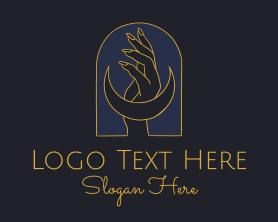 Handmade - Mystic Lunar Hand logo design