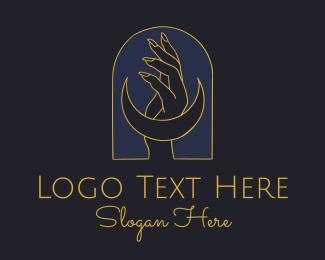 Mystic - Mystic Lunar Hand logo design