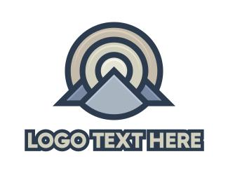 Accommodation - Circle Target Mountain House logo design