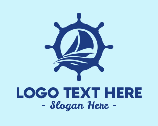 Seaman - Sailboat Boat Helm logo design