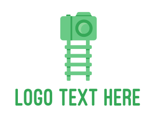 Green Camera - Green Kids Ladder Photography logo design