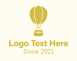 Air Balloon - Yellow Air Balloon Bag logo design