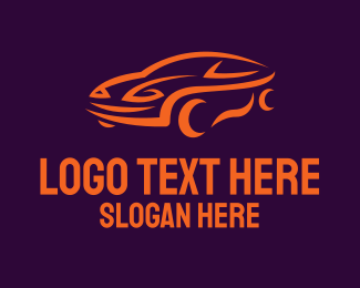 Automotive - Orange Automotive Car logo design