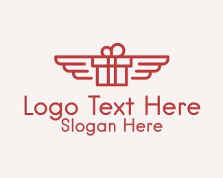 Flying - Flying Gift Monoline logo design