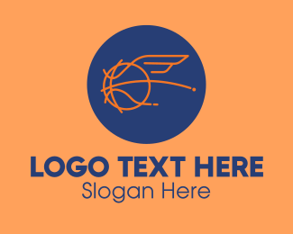 Athlete - Flying Wing Basketball logo design