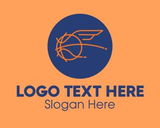 Trainer - Flying Wing Basketball logo design