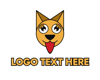 Tongue - Hungry Polygon Cat logo design