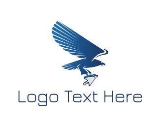 Click - Eagle Click logo design