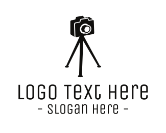 Black Camera - Photography Photographer Camera logo design