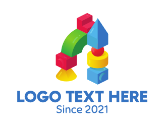 Children - Children's Toy Block logo design