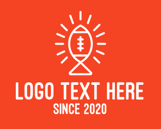 Nfl - Bright American Football Fish logo design