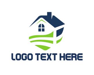 Yard - House Garden logo design