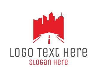 Skyscraper - Red City logo design